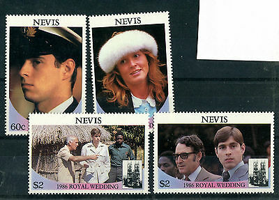 Nevis 1986 Royal Wedding Set Of All 4 Commemorative Stamps Mnh