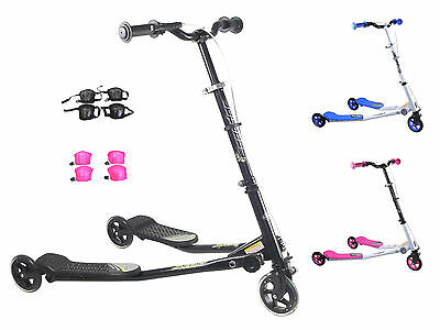 Kids Speeder Slider Foldable Push Drifter Scooter Three 3 Wheels Tri SMALL