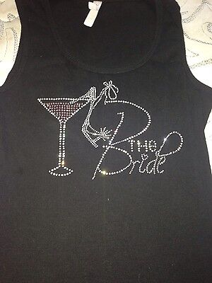 The Bride black tank top bling size L