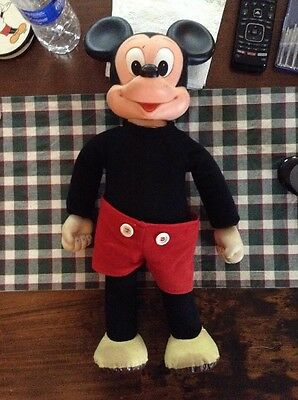 """Vintage Hasbro Romper Room 18"""" Marching Mickey Mouse Doll* Adorable"""