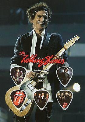 The Rolling Stones - Bronze - guitar picks on photo display LIMITED