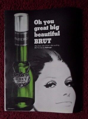 1966 Print Ad Brut by Faberge Cologne Products ~ Oh You Great Big Beautiful BRUT