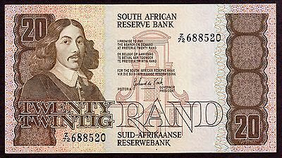 South Africa 20 Rand Replacement Z/21 p121d 1985-90 AU
