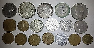 Coin lot: India, Greece, Germany