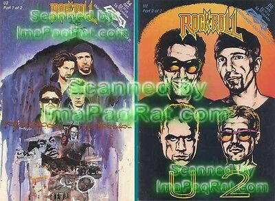 U2 Bono Complete 2 Part Rock Comic NM 1st Print VHTF!