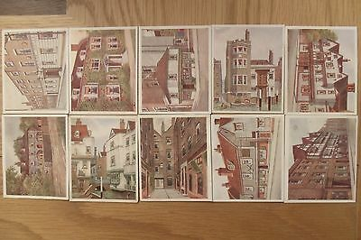 10 historic places from dickens classics cigarette cards
