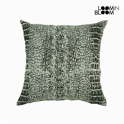 Coussin motif serpent noir - Collection Jungle by Loomin Bloom