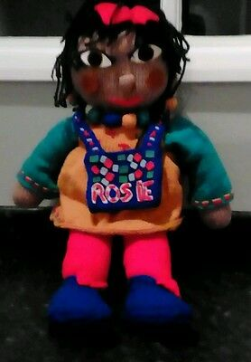 """Rosie and Jim Vintage 1980s --Rosie  knitted doll - approx 20"""" VGC"""