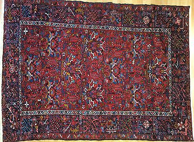 Handsome Heriz - 1930s Antique Karaja Rug - Tribal Persian Carpet - 4 x 6.5 ft.