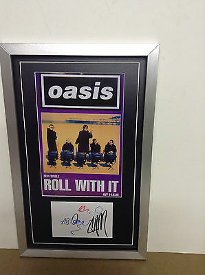 Oasis Hand Signed/Autographed Card with a Photograph & COA