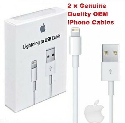2X Genuine APPLE Sync & Charger USB Data Cable For iPhone 6S 55C 5S iPad 4 Air