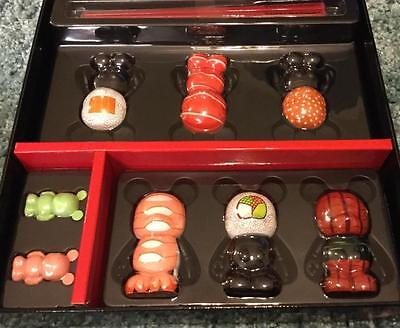 "Sushi Set 6 3"" and 2 Jr VINYLMATION Disney Box LE 2500 w/ Chopsticks New"