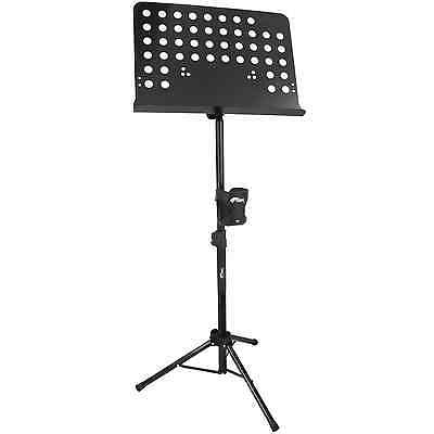 Tiger Orchestral Sheet Music Stand and Cup Holder with Height and