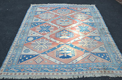 Antique Vintage Persian Oriental Hand Woven Room Sized Area Rug Carpet 124x98