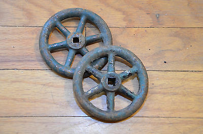Antique Vintage Cast Iron Water Faucet Knobs Two Industrial STEAMPUNK Art