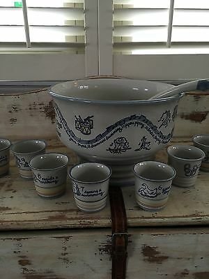 Louisville Stoneware The Twelve Days Of Christmas Complete.....stand Cups Ladle
