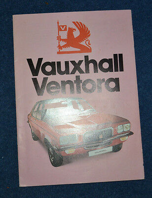 Vauxhall Ventora Saloon and Estate UK Sales Brochure August 1974