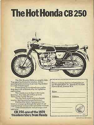 One Only Cb250 K0 Super Sport Ad/poster Hrc Ko 250