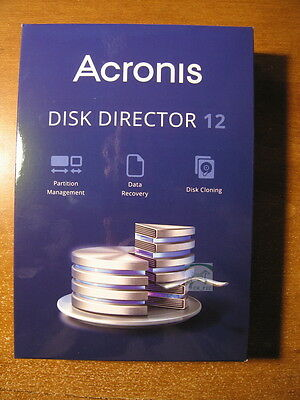 New, Sealed Acronis Disk Director 12 - Partition, Data Recovery, Cloning - Free