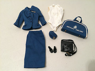 Vintage Barbie American Airlines Outfit #984 Complete-Vgc