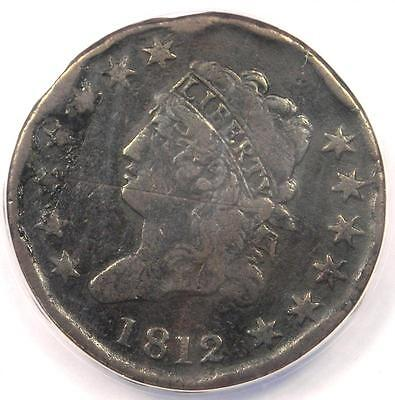 1812 Classic Liberty Large Cent 1C - ANACS VF20 Details - Rare Date Penny!