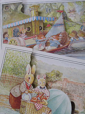 FOXWOOD TALES VINTAGE NEW Blank CARDS Rabbits Mouse B PATERSON