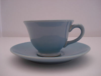 T.S.&T. LuRay  Blue Cup and Saucer