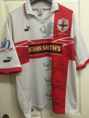 England World Cup 1995 Rugby League Home Shirt adult extra large XL