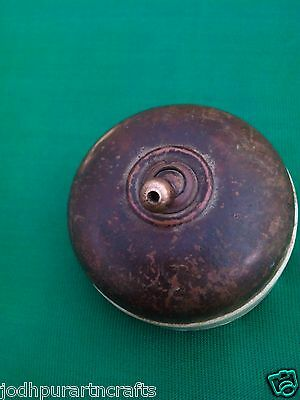 Rare Antique Vintage Brass & Ceramic Victorian Vitreous Electric Switch Germany