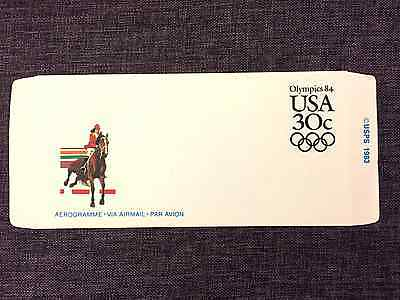 Usa , 1984 Olympic Games Aerogramme And Two Postcards