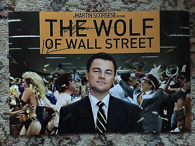 The Wolf Of Wall Street Cast Original Signed Photo Di Caprio Hill Robbie £1 1
