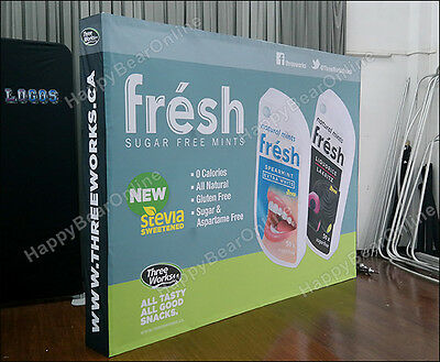 Trade show display Fabric Tension Pop-up Booth with Graphics 10ft