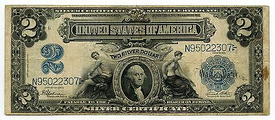 1899 $2 Silver Certificate - Large Size Currency - Two Dollars - AH674