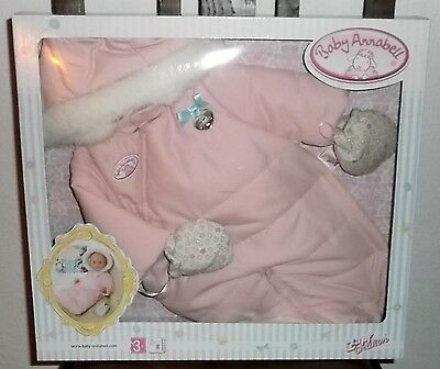 Zapf-Creation-Baby-Annabell-Deluxe-2in1-Winter-Set-Kleidung-Accessoires NEU