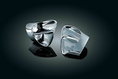 Kuryakyn Chrome Front Fairing Intake Air Vent Duct Inserts Honda Goldwing 01-10