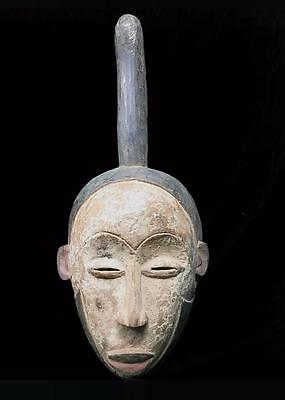 Old Tribal Igbo Spirit Mask With Horn---  Nigeria