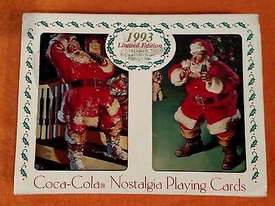 Limited Edition Coca Cola Playing Cards in Collectible Christmas Tin, 1993