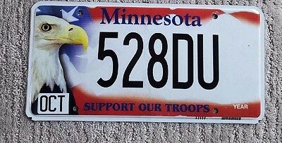 U.S. License Plates-Minnesota Support Our Troops License Plate!