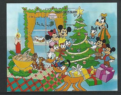 Disney Characters mint Stamps Turks & Caicos Islands Christmas 1983 mini-sheet