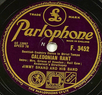Schellackplatte - Jimmy Shand - Caledonian Rant / The Gay Gordons No.2