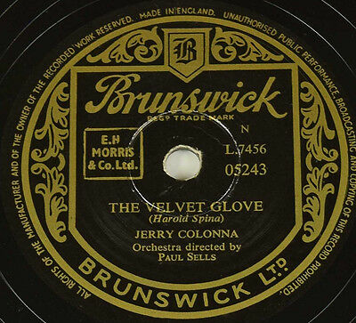 Schellackplatte - Jerry Colonna - The Velvet Glove / EBB Tide gramophone record