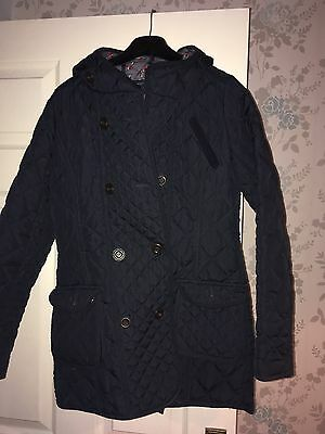 Girls Navy Next Coat Age 13-14