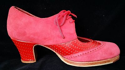 Flamenco Shoes Professionals brand new Red suede and leather size 35