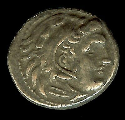 Alexander Iii The Great 336-323 Bc. Silver Drachm About Uncirculated  Fine Style