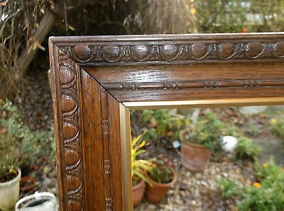 Antique.carved Oak Picture Frame With Original Liners.