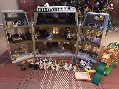 Sylvanian Families Grand Hotel With Accessories & Extras