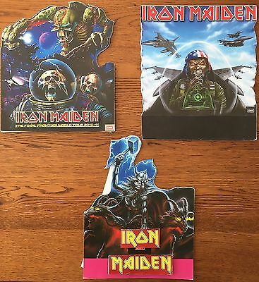 Iron Maiden: Promo 3 x Shaped Card Counter Display Standees Job Lot Collection