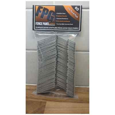 Fence Panel Grips 60 Pack Stop Fence Panels Rattling Banging In The Wind Preve