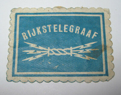 Netherlands Telegraph Seal revenue Cinderella Stamp 1128-4 small faults used
