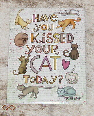 """LEANIN TREE """"Have You Kissed Your Cat Today?"""" #31439 Refrigerator Magnet ~"""